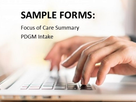 Focus of care under PDGM