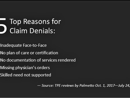 5 top reasons for claim denials