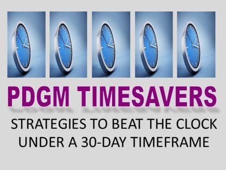 Timesavers under PDGM