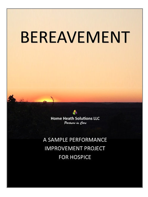 Bereavement PIP for Hospice