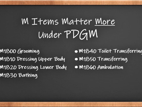 M items tied to payment under PDGM