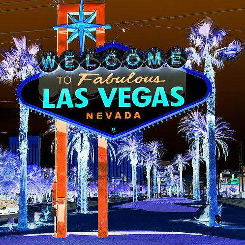 Vegas sign art photo on canvas