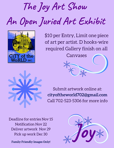 Call to Artists Joy Show at City of the