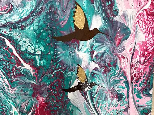 Hummingbird Love by Ranae Koyamatsu
