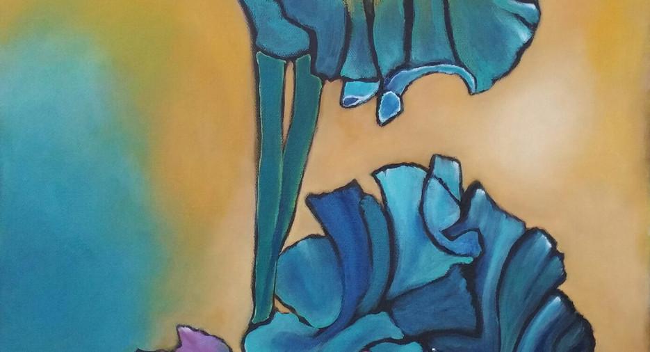 Teal Irises