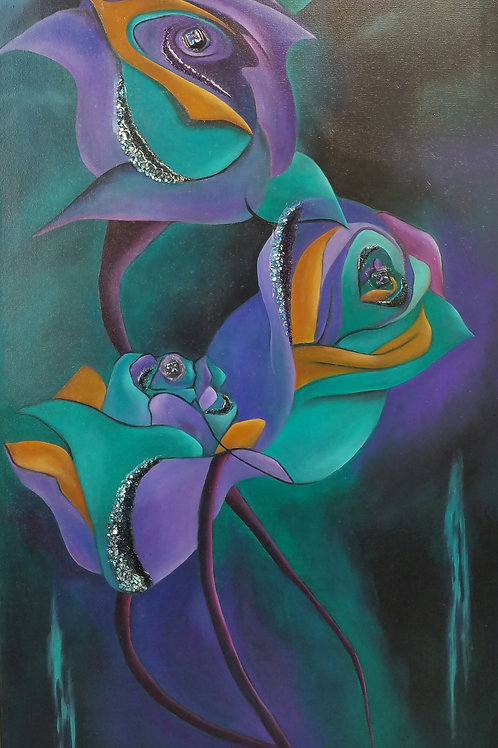 Dancing Roses By Lesley Beth