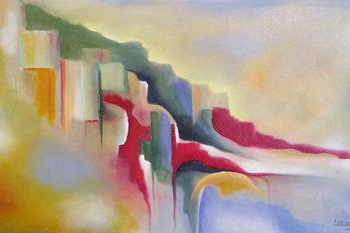 Italian Hillside by Lesley Beth
