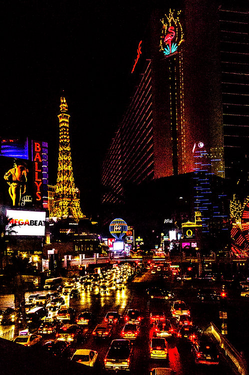 Vegas strip art photo on canvas