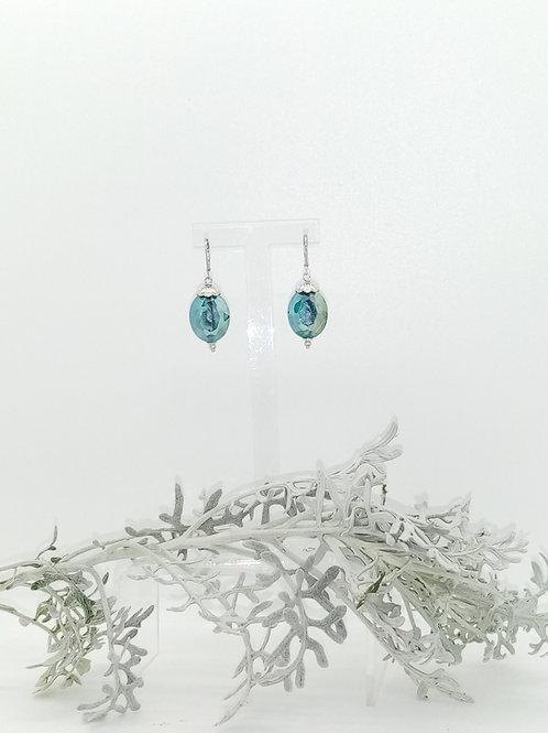 Boucles d'oreilles en Murano bleu Réf : 45
