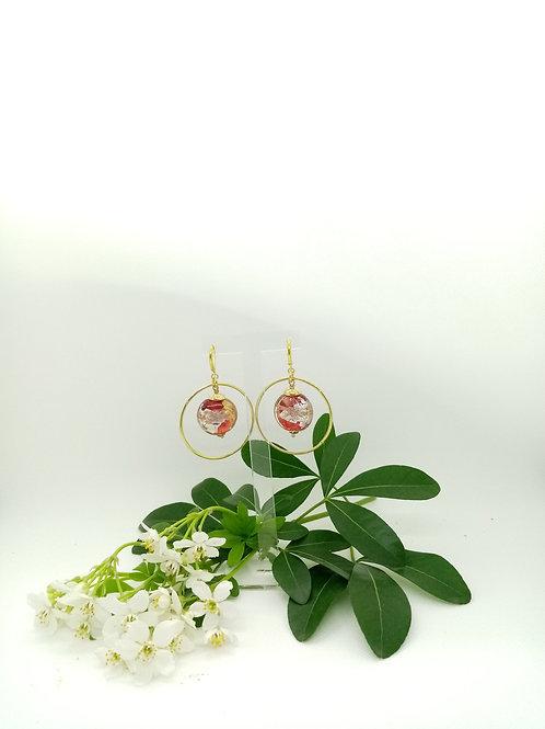 Boucles d'oreilles créole et Murano Réf 31