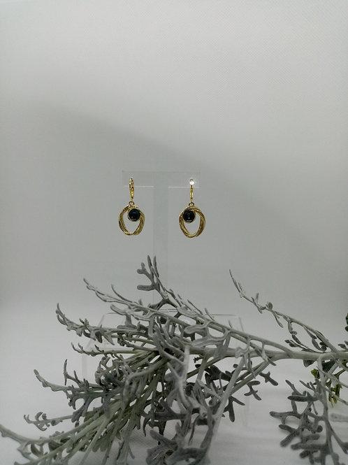 Boucles d'oreilles créole sertie Réf : 21 et 22