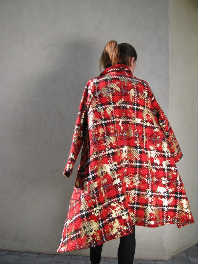 Manteau PEPITES rouge