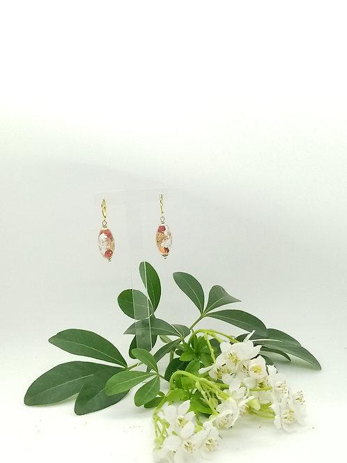 Boucles d'oreilles en Murano Réf 32