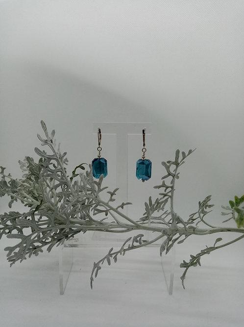 Boucles d'oreilles en verre  Réf : 18