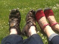 couple's feet side by side