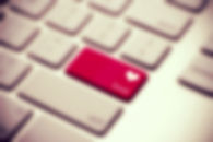 love as akey on a keyboard