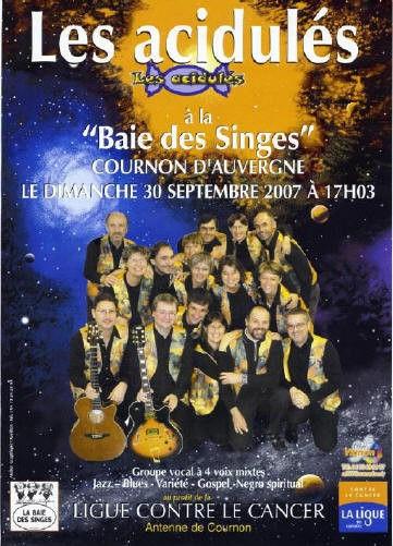 """""""Les Acidulés"""" et """"la ligue contre le cancer"""", le 30 septembre 2007"""