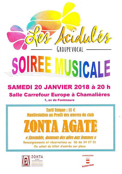 """""""Les Acidulés"""" et le club """"Zonta Agate"""", le 20 janvier 2018"""