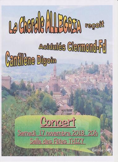 """Les Acidulés"", invités de la ""Chorale Allegria"", le 17 novembre 2018"
