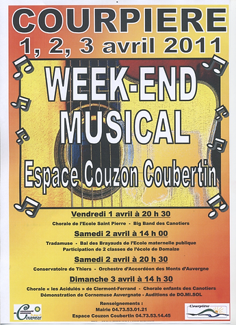 """Week-end musicale de Courpières, """"Les Acidulés"""", le 3 avril 2011"""