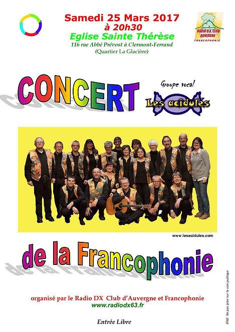 """""""Les Acidulés"""" et le """"Radio DX Club d'Auvergne et Francophonie"""", le 25 mars 2017"""