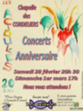 """""""Les Acidulés"""", concerts anniversaire les 28 février et 1er mars 2015"""