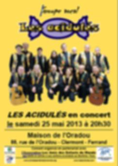 """""""Les Acidulés"""" et """"Les Amis des enfants du monde"""", le 25 mai 2013"""