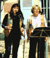 """""""Les Acidulés"""" à la fête des fleurs, Saint-Anthème, en juin 2000"""