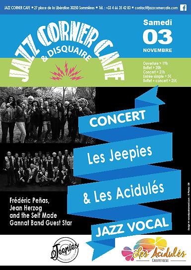 """""""Les Jeepies"""", """"Les Acidulés"""", Frédéric Peñas, Jean Herzog, le 3 novembre 2018"""