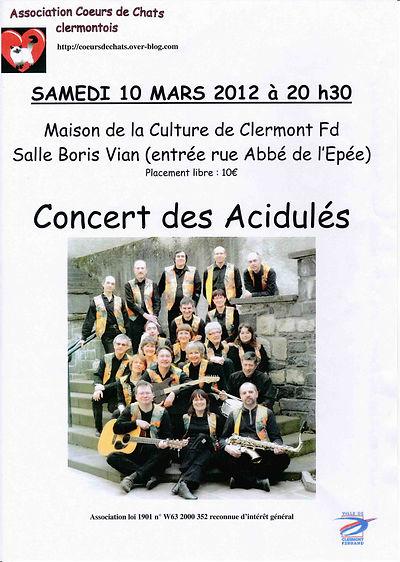 """""""Les Acidulés"""" et """"Coeurs de chats"""", le 10 mars 2012"""