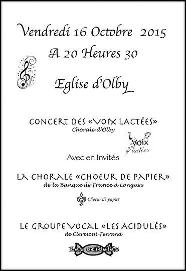 """""""Les Acidulés"""", """"Les Voix lactées"""", """"Choeur de papier"""", le 16 octobre 2015"""