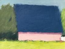 Oldwick Pink Barn o/c 8x10