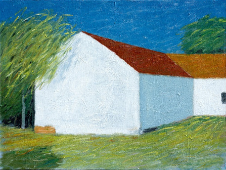 White Cottage o/c  30x40