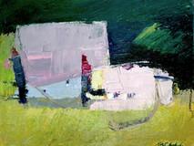 Pink Barn o/c 16x20