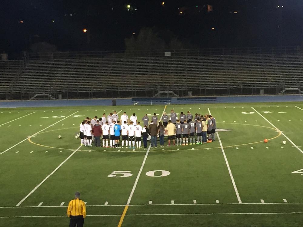 Team prayer before the games!