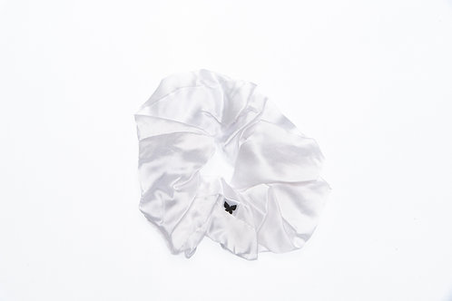 ChicSleep by la seda - 100% silk scrunchie - Pearl White