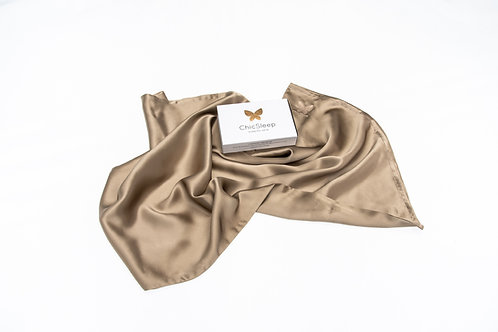 100% Mulberry Silk Pillowcase Standard/Queen - Gold Beige