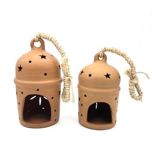 Handmade fairtrade ceramic lantern (6inch)