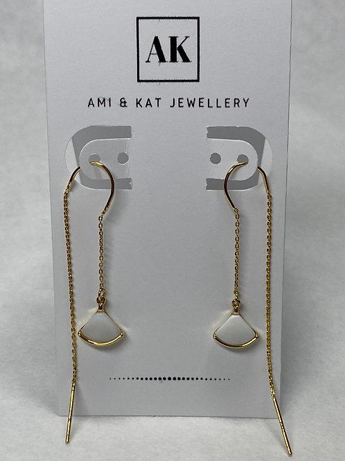 Gold Plated Shell Swing Earrings