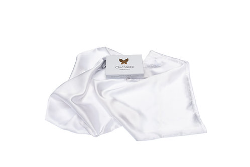 100% Mulberry Silk Pillowcase King - Pearl White