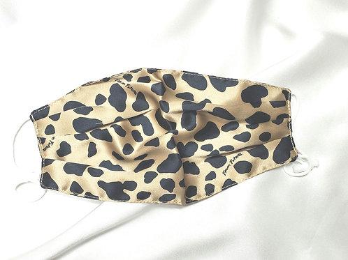 Pure Mullberry Silk Mask - Leopard