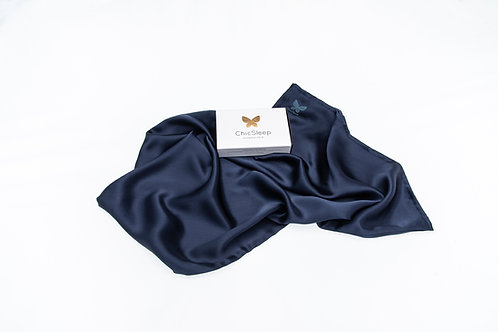 WSChicSleep by la seda - Double/Queen 100% silk pillowcase - Midnight Blue