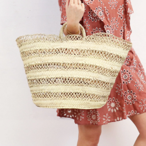 Cannes Straw French Basket - Beach Tote