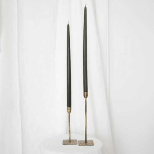 "Taper Candles - 18"" Pair Olive"