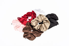 Canadian made, silk scrunchies, haircare, gentle on hair
