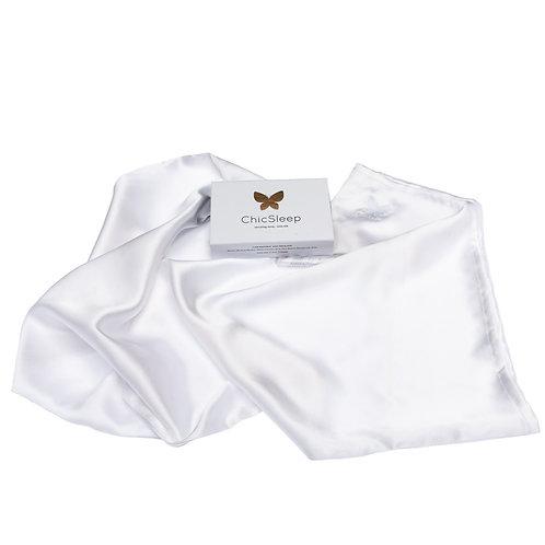 WS ChicSleep by la seda - king 100% silk pillowcase - Pearl White