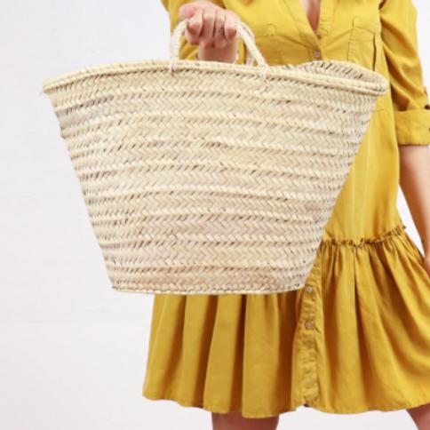 Straw Bag - Miami French Market Basket  Large