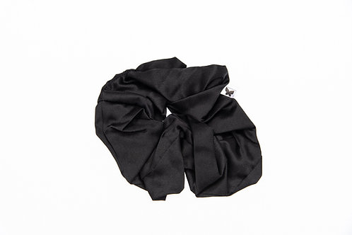 ChicSleep by la seda- 100% silk scrunchie - Onyx Black