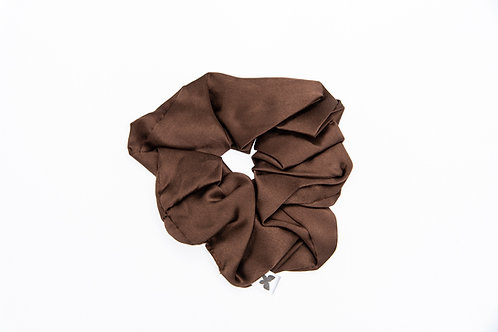 pure and natural, silk scrunchie, Canadian, gentle on hair, mulberry, charmeuse weave.