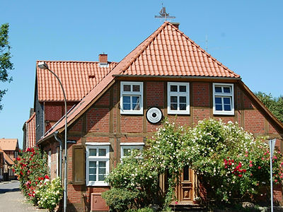 Half-timbered house in Bleckede on the Elbe
